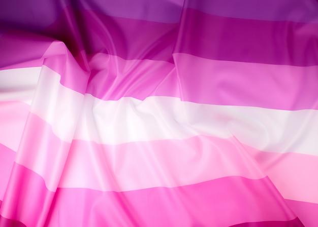 Textilrosa flagge von lesben Premium Fotos