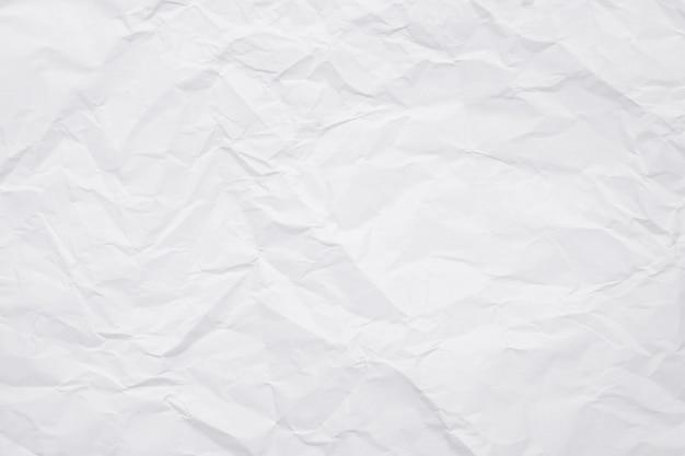 Textur des weißen zerknitterten papiers für hintergrund. Premium Fotos