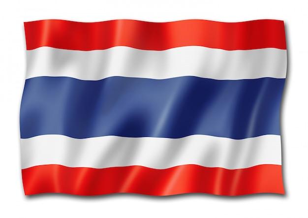 Thai flagge isoliert Premium Fotos