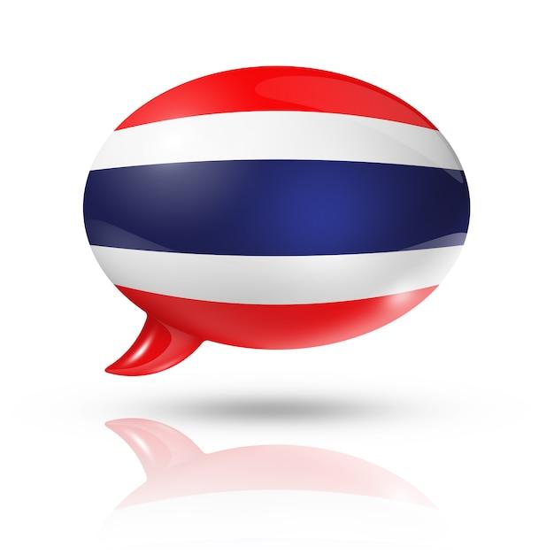 Thai flagge sprechblase Premium Fotos