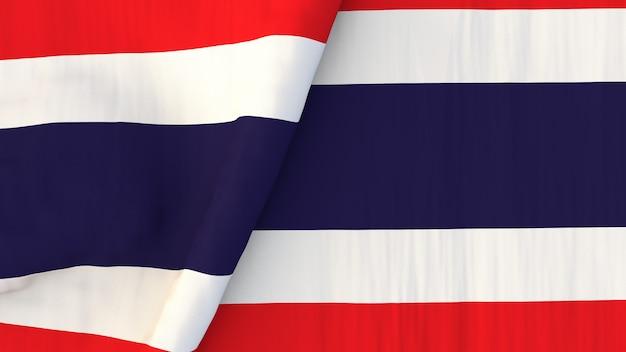 Thailändische flagge Premium Fotos