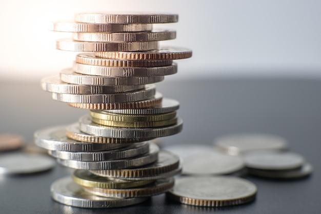 Thailand-münzenstapel Premium Fotos