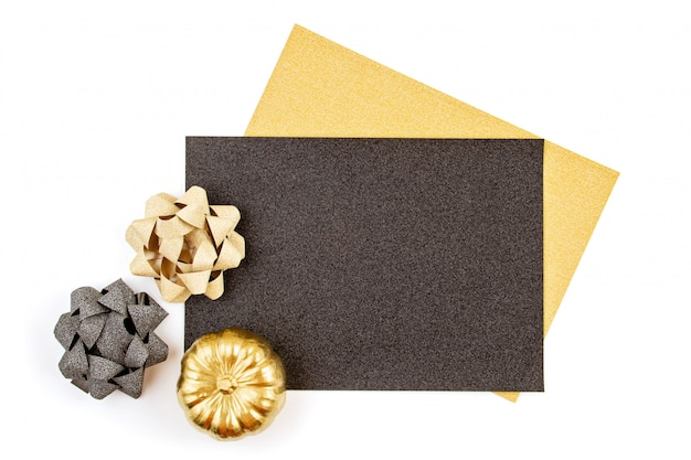 Thanksgiving oder halloween grußkarte oder einladung Premium Fotos
