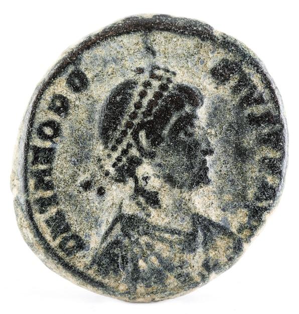 Theodosius römische münze Premium Fotos