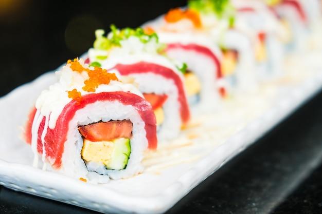 Thunfisch-Sushi-Rolle Kostenlose Fotos