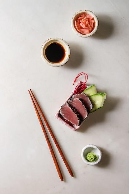 Thunfisch-sushi-sashimi Premium Fotos