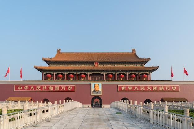 Tiananmen-tor in peking, china. Premium Fotos