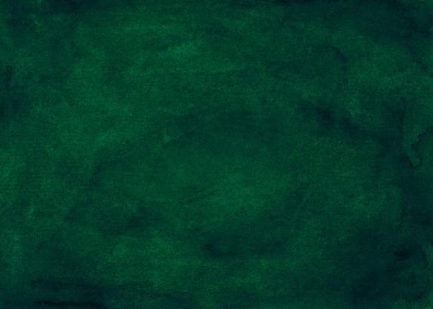 Tiefgrüne hintergrundmalerei des aquarells. aquarell abstrakt dunkelgrün. vintage elegante überlagerung. Premium Fotos