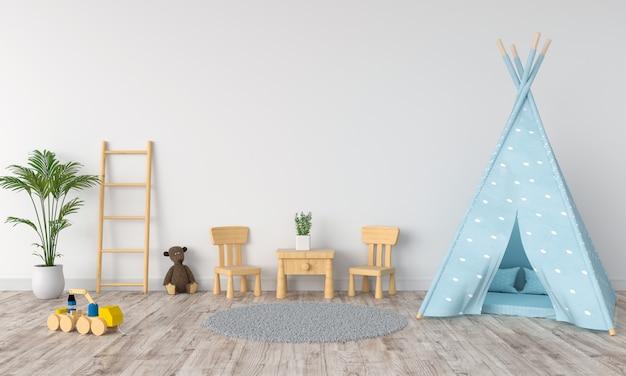 Tipi im kinderraum für modell Premium Fotos