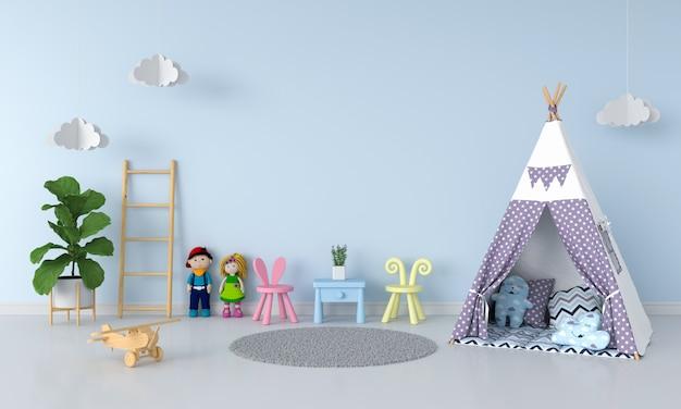 Tipi im kinderrauminnenraum für modell Premium Fotos