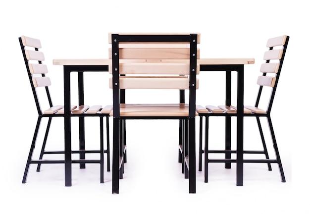 Tischmöbel lokalisiert auf dem weiß Premium Fotos