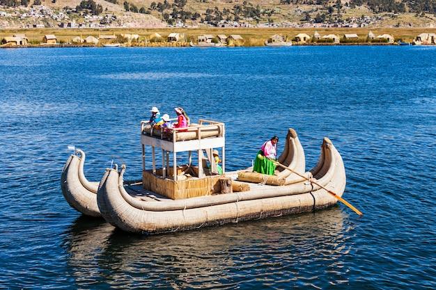 Titicaca see, puno Premium Fotos