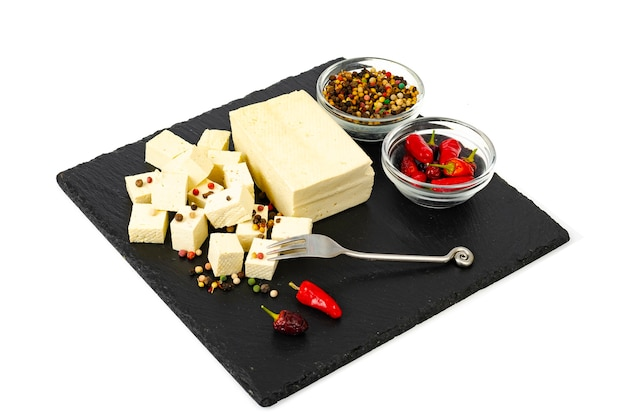 Tofu - sojamilchproteinprodukt .. Premium Fotos