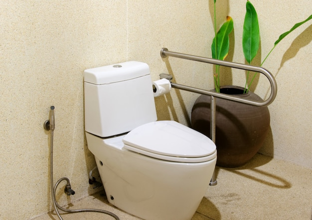 Toilette spülen Premium Fotos