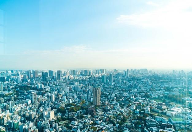 Tokyo stadt skyline mit tokyo tower Kostenlose Fotos