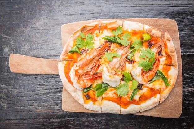 Tom yum pizza Kostenlose Fotos