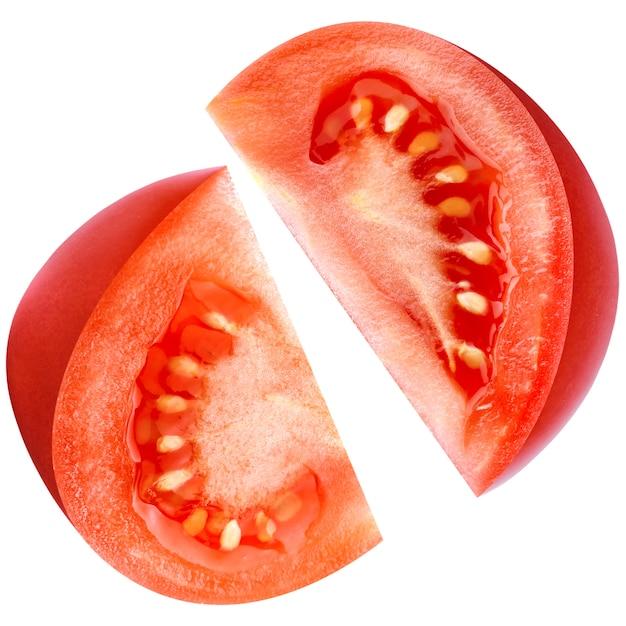 Tomate getrennt auf weiß mit ausschnittspfad Premium Fotos