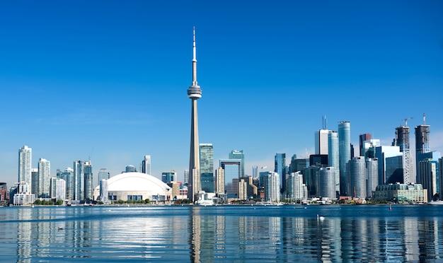 Toronto-stadtskyline, ontario, kanada Premium Fotos