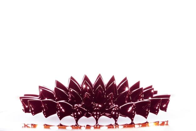 Totale des ferromagnetischen flüssigen metalls mit kopienraum Kostenlose Fotos