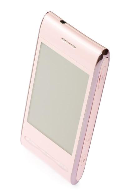 Touchscreen-smartphone lokalisiert auf weiß Premium Fotos