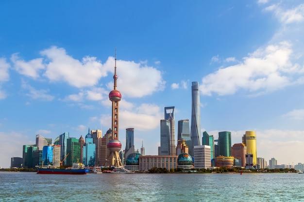 Tourismus blauer himmel reise wolkenkratzer shanghai Kostenlose Fotos