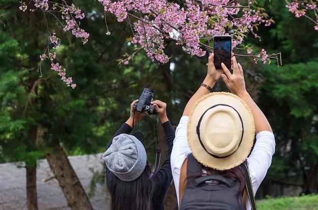 Touristen fotografieren Premium Fotos