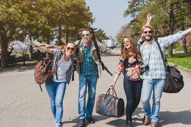 Touristen haben spaß Kostenlose Fotos