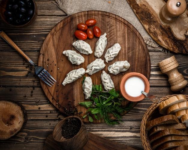 Traditionelle aserbaidschanische gurza draufsicht Kostenlose Fotos
