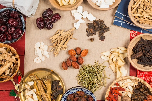 Traditionelle chinesische medizin Premium Fotos