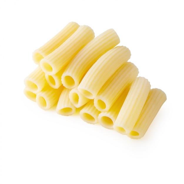 Traditionelle italienische pasta kochen, bis sie isoliert auf weiß gekocht werden Premium Fotos