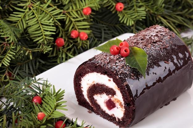 Traditionelle Weihnachten Yule Kuchen Download Der Kostenlosen Fotos