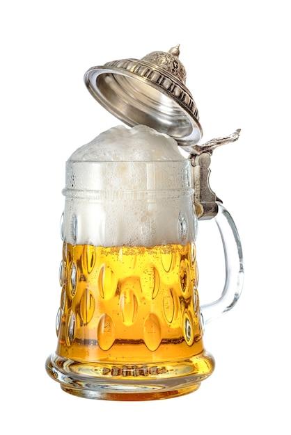 Traditioneller deutscher bierkrug Premium Fotos