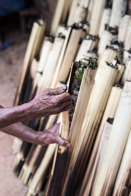 Traditionelles essen in tana toraja Premium Fotos