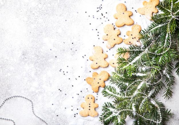 Traditionelles weihnachtsbacken. konzept des neuen jahres Premium Fotos
