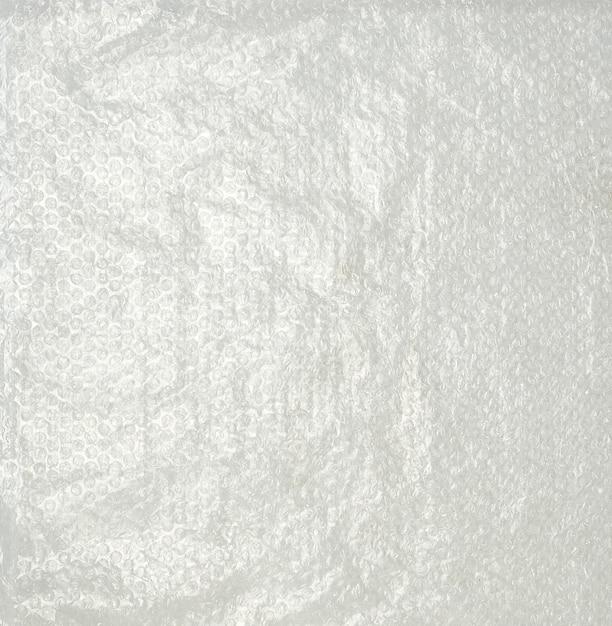 Transparente verpackungsfolie mit luftblasen zur verpackung von o Premium Fotos