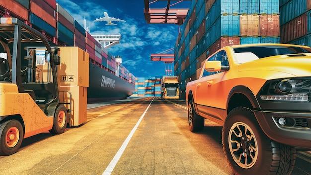Transport und logistik. Premium Fotos