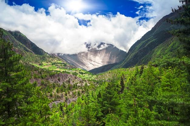 Trekking in nepal Premium Fotos