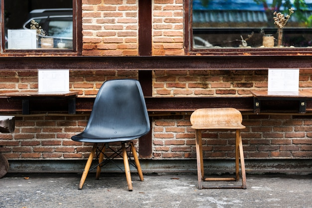 Trendy café in der stadt Kostenlose Fotos