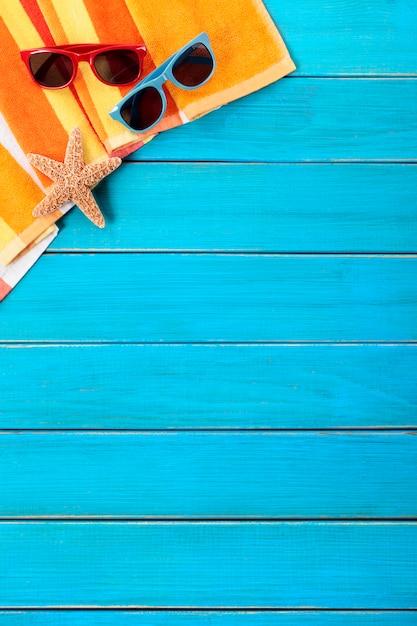 Tropischer sommer strand hintergrund Kostenlose Fotos