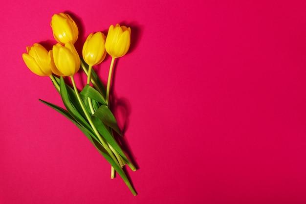 Tulpe strauß rosa hintergrund liebe Premium Fotos
