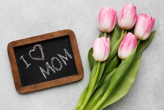 Tulpen neben rahmen Kostenlose Fotos