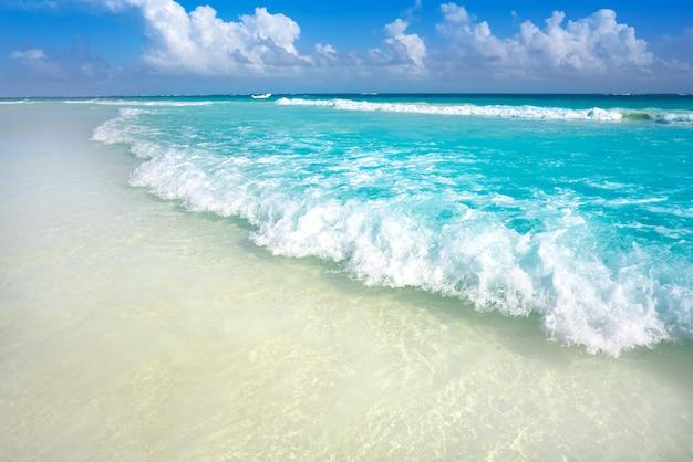 Tulum karibischer strand in riviera maya Premium Fotos