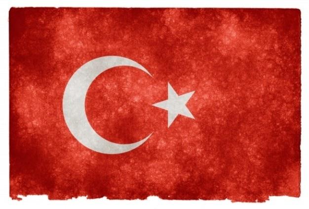 Turkey grunge flag Kostenlose Fotos