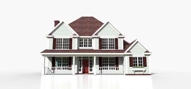 Übertragen sie von einem klassischen amerikanischen landhaus Premium Fotos