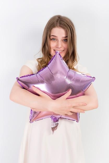 Umfassungsballon der netten fantastischen frau Kostenlose Fotos