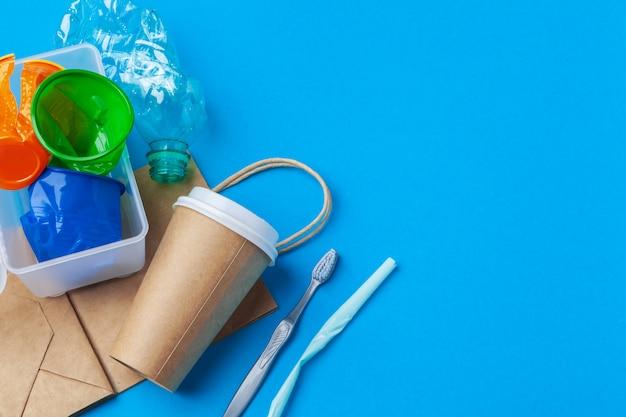Umweltschutzkonzept - abfall vorbereitet für die wiederverwertung Premium Fotos