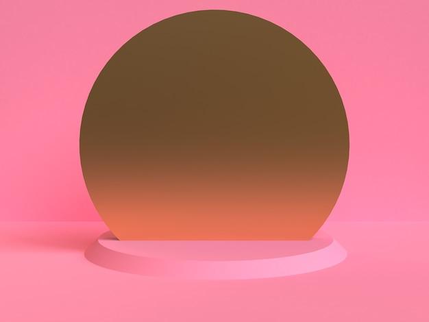 Unbedeutender geometrischer abstrakter hintergrund, pastellfarben, 3d übertragen, tendenzplakat, illustration. Premium Fotos