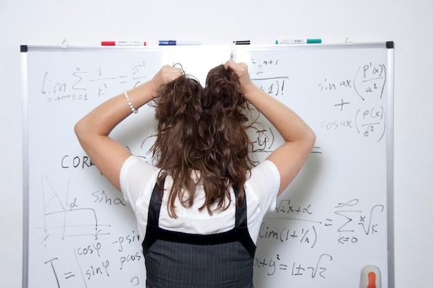 Uneinnehmbare mathematik Premium Fotos