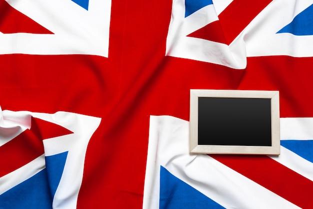 Union jack flagge und zwischenablage Premium Fotos