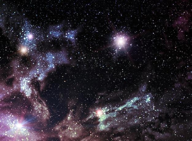Universum hintergrund Premium Fotos